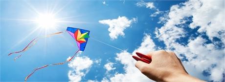 Sonne steigender Drachen Artikel