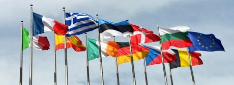 Eurozone Fahnen klein