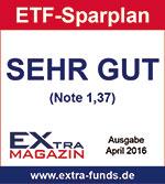 Flatex ETF-Sparplan erhält Note SEHR GUT