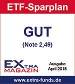 ING-Diba ETF-Sparplan erhält Note GUT