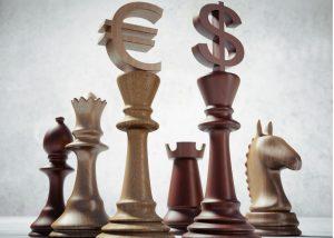 Währung als Schachfiguren