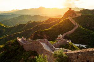 Chinesische Mauer in der Abendsonne