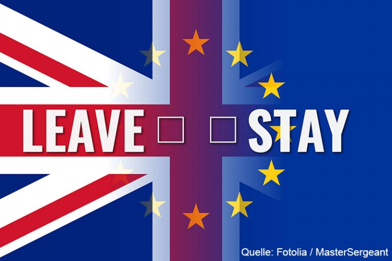 brexit – eu uk flags with choice leave stay