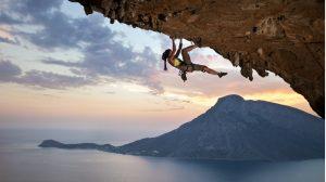 Free Climber vor Kalymnos