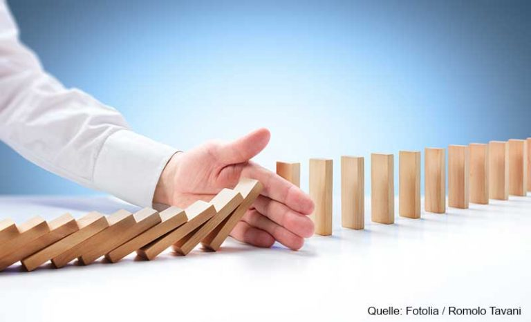 Problem Solving – Hand Stopping Domino Effect