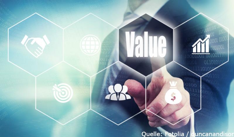 Mit Value-Titel positionieren.