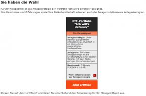 Wüstenrot ETF Managed Depot Anlagevorschlag