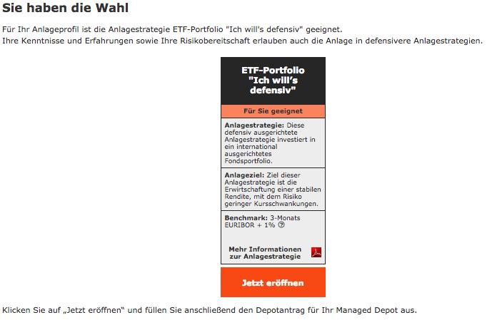 Wüstenrot ETF Managed Depot Robo-Advisor Test