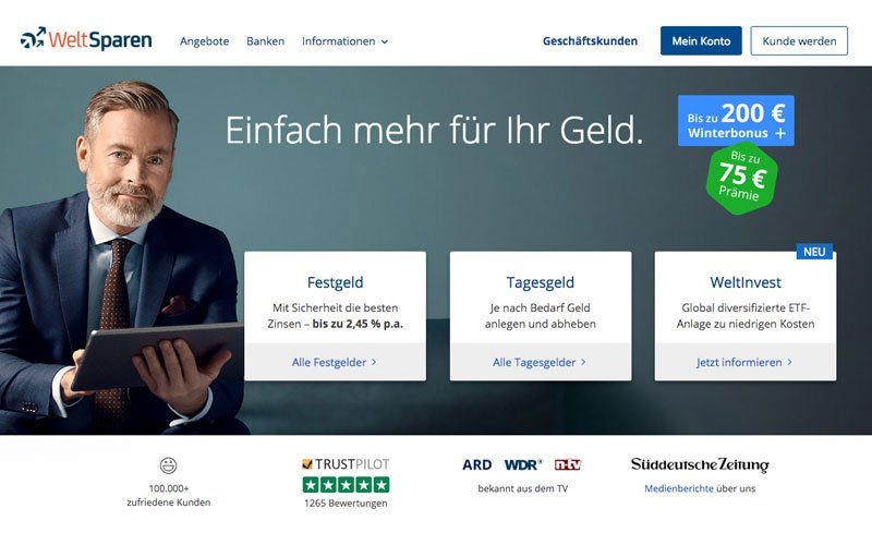 WeltInvest - Weltsparen - Robo-Advisor