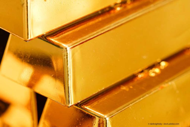 Goldbarren-Rohstoffe