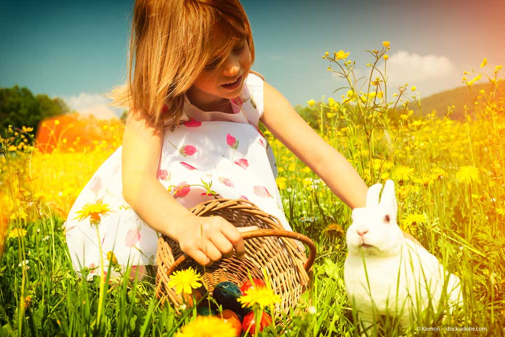 Ostern-Kind-Korb