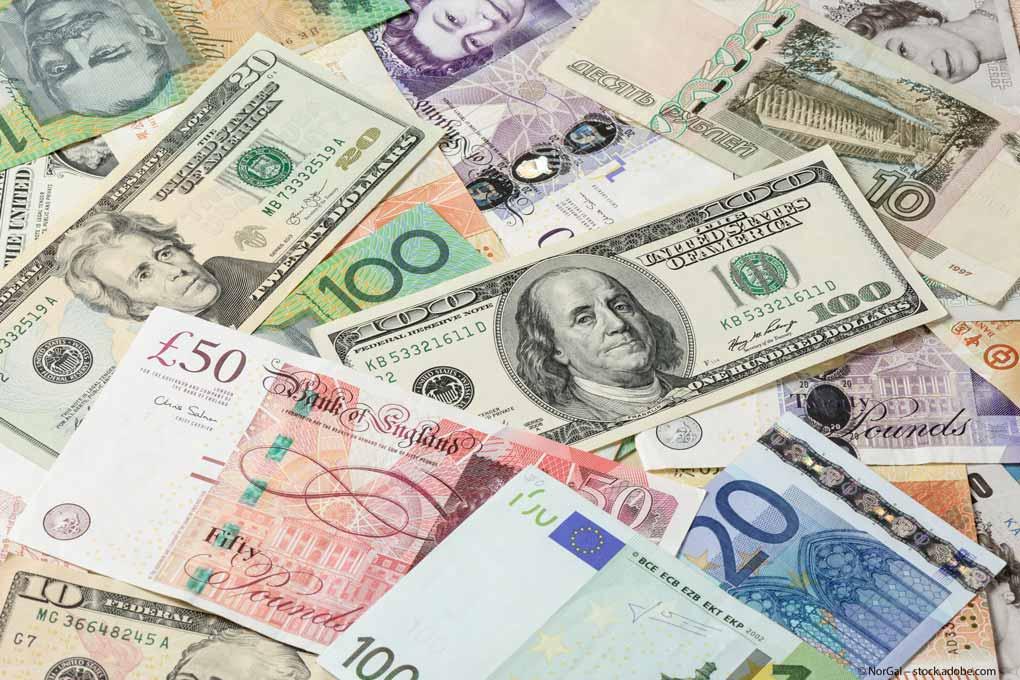 Devisen-Dollar-Euro