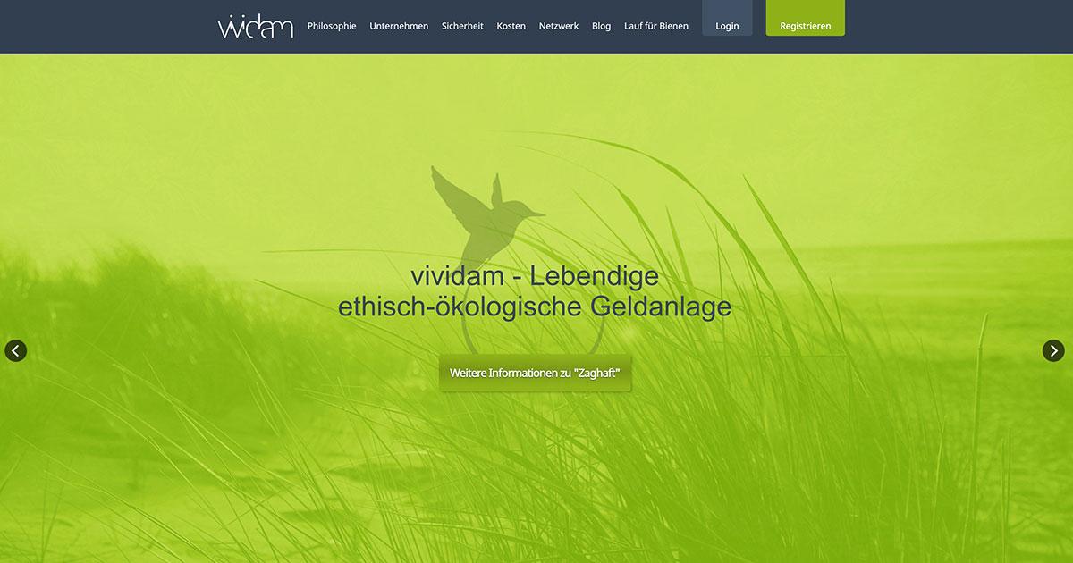 Vividam – Zukunftsorientierte Geldanlage