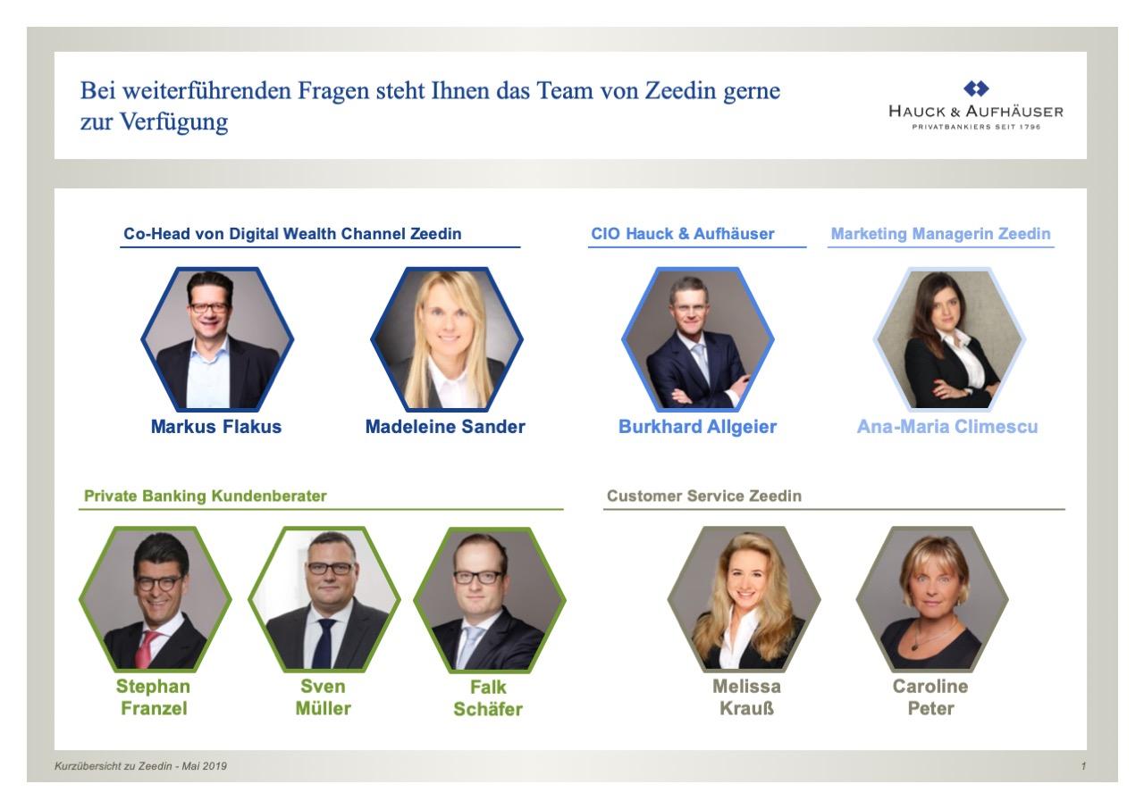 Das Team von Zeedin