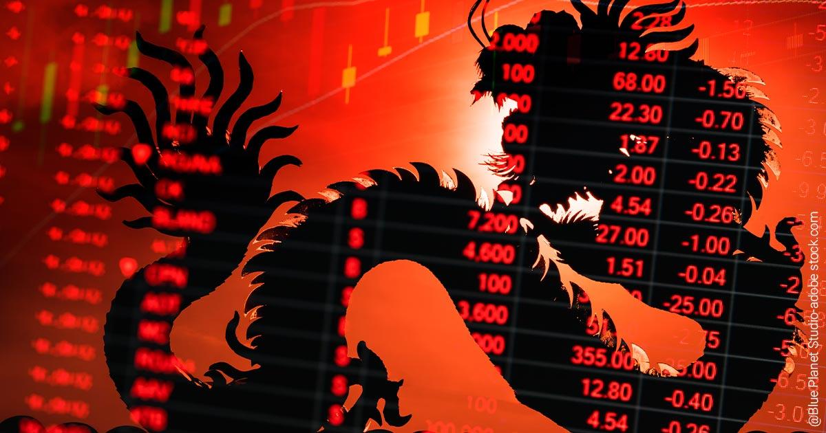 China-Aktien unter Druck.